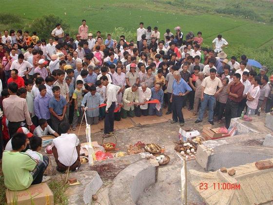广东阳江大沟伍屋寨于9月23在阳江市阳东县冈列乡象山氓公墓
